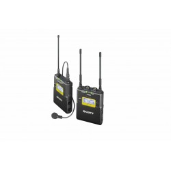 ENG UHF-Wireless set, UTX-B03 belt pack,  URX-P03 portable receiver, lavalier microphone and accessories, TV-channel 33-41, 566,