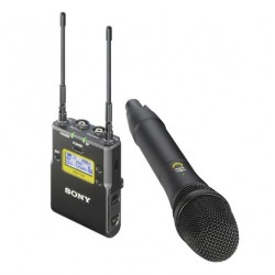 ENG UHF-Wireless set, UTX-M03 handheld microphone,  URX-P03 portable receiver, TV-channel 42-48, 638,025-694,000 MHz, with Digit