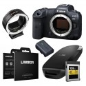 Canon EOS R5 systeemcamera Body +  Viltrox EF-EOS R Adapter + 128GB CFexpress card + CFexpress Card ReadeR systeemcamera + LCD B