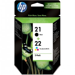 HP 21/22 4 color SC 2-pack...